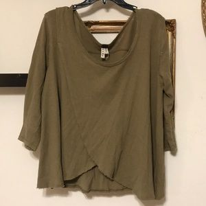 Army green We The Free top